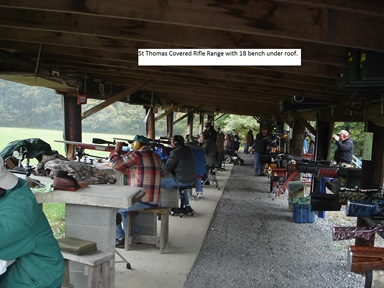 St.Thomas covered rifle range with 18 bench under roof